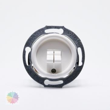 Wyłącznik podwójny dźwigniowy THPG duroplast biały