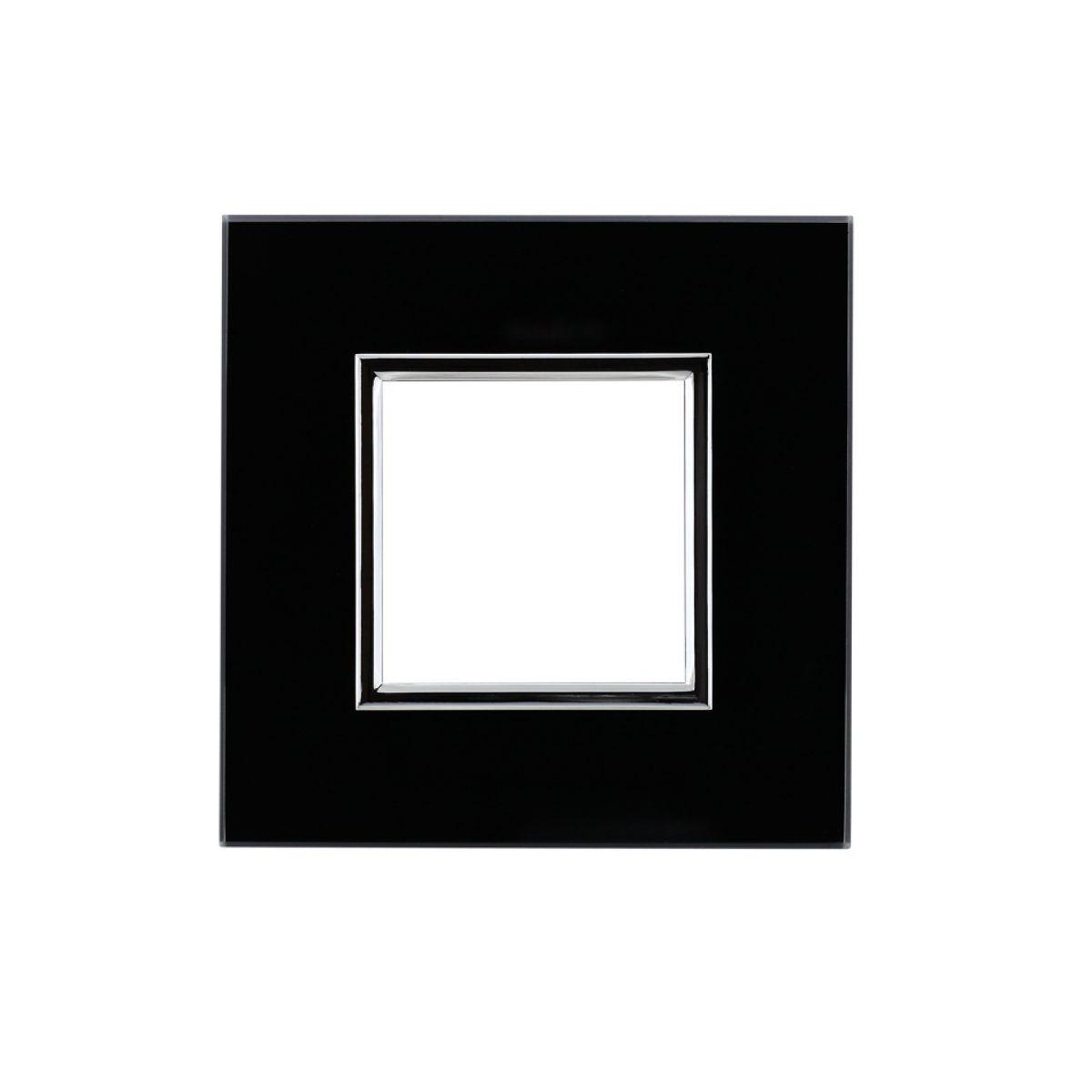 Ramka pojedyncza ze szkła DANTE czarna (4509181)