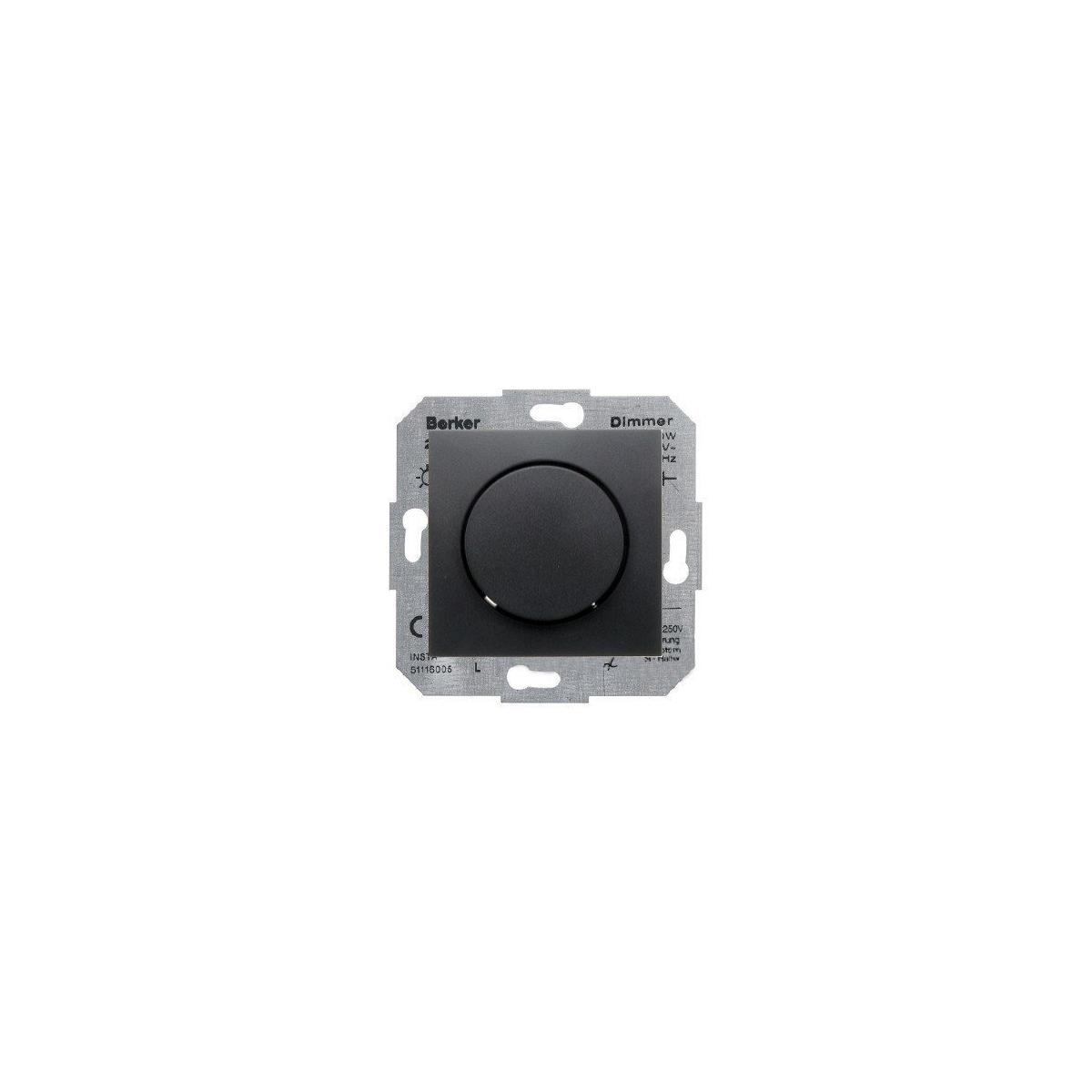 Ściemniacz obrotowy 60-400W Berker B.1/B.3/B.7 antracyt mat (281901+11371606)