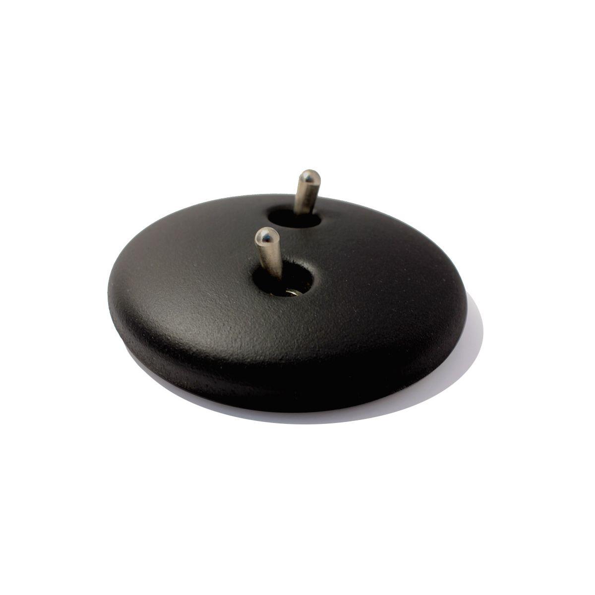 Wyłącznik podwójny dźwigniowy Realitem metal czarny