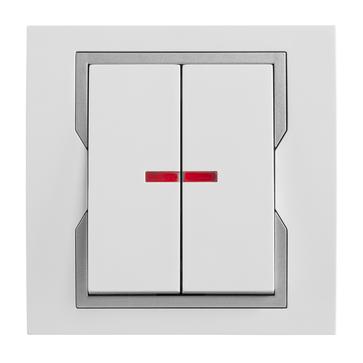Wyłącznik podświetlany podwójny QUATTRO System™