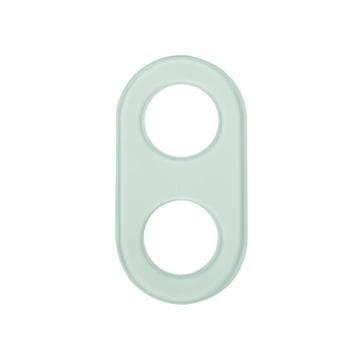 Ramka podwójna szkło białe Berker Glas
