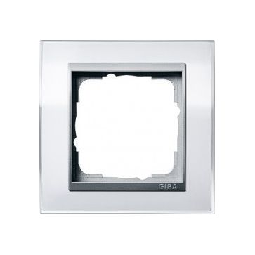 Ramka pojedyncza EVENT CLEAR do mechanizmów w kolorze aluminiowym