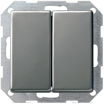 Wyłącznik podświetlany podwójny E22 metalowy