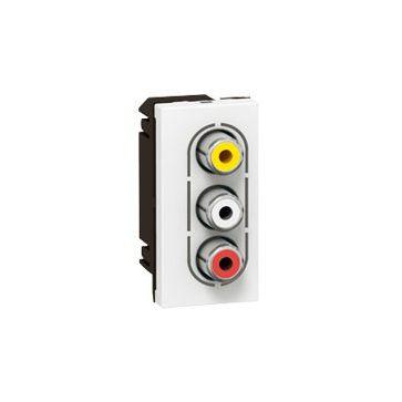 Gniazdo audio RCA Legrand Mosaic