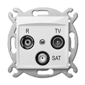 Gniazdo antenowe TV + R + SAT CARLA