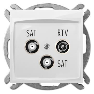 Gniazdo antenowe TV + SAT + SAT CARLA