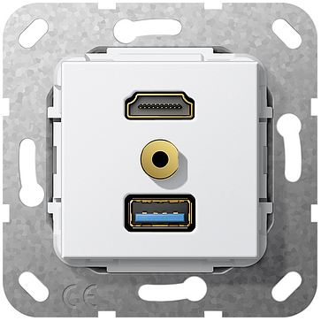 Gniazdo multimedialne Gira System 55