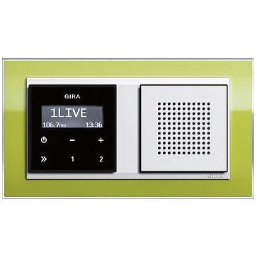 Radio LCD GIRA podtynkowe + ramka EVENT