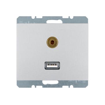 Gniazdo USB + audio Berker K.5