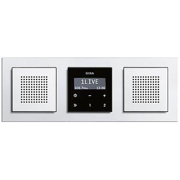 Radio LCD GIRA podtynkowe + ramka E2 + dodatkowy głośnik
