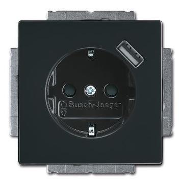 Gniazdo z/u + USB ABB CARAT