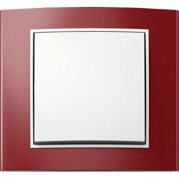 Ramki Berker B.3 aluminium czerwone