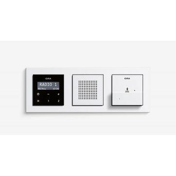 Radio LCD GIRA podtynkowe + ramka E2 + stacja dokująca micro USB - Bluetooth