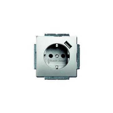 Gniazdo z/u + USB ABB PURE