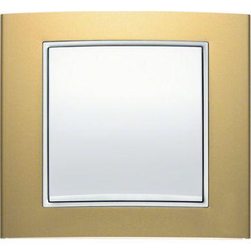 Ramki Berker B.3 aluminium złoto