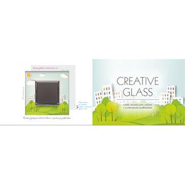 Wyłącznik pojedynczy KOS Dante z ramką szklaną creative glass