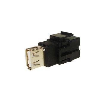 Adapter keyston złącza USB A gniazdo / A gniazdo