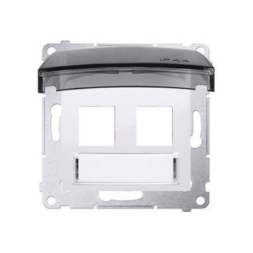 Adapter keystone z pokrywą SIMON 54 biały