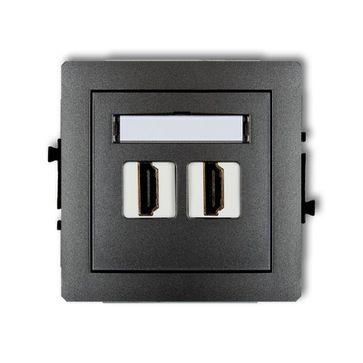Gniazdo 2xHDMI Karlik Deco grafitowy