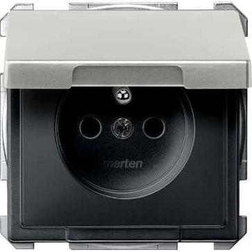 Gniazdo z/u Schneider z klapką Merten System D