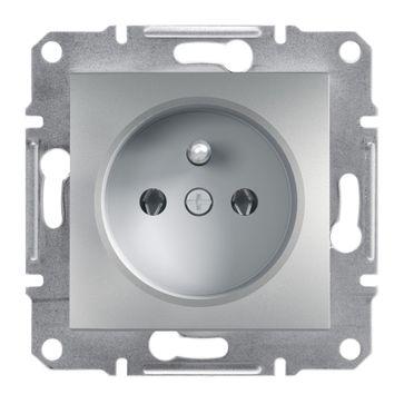Gniazdo z/u ASFORA aluminium