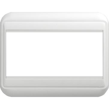 Ramka podwójna (104x80) biała COSMO 45x45