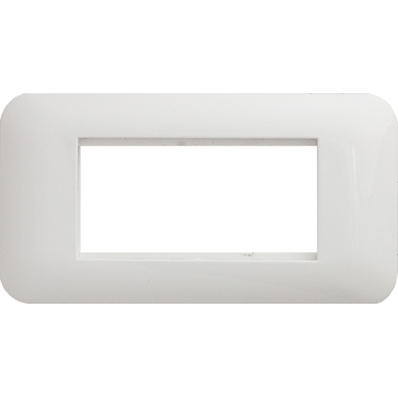 Ramka podwójna (151x80) biała COSMO 45x45