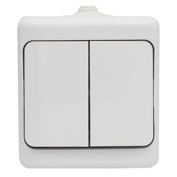 Wyłącznik podwójny BRYZA biały