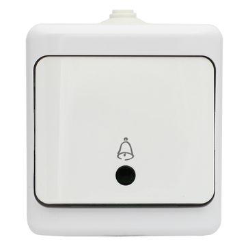 Przycisk dzwonek podświetlany BRYZA biały