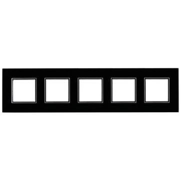 Ramka pięciokrotna ze szkła DANTE czarna