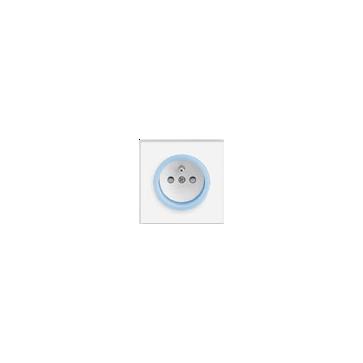 Gniazdo z/u ABB NEO biały / lodowy niebieski