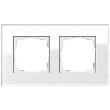 Ramka podwójna ESPRIT Szkło białe