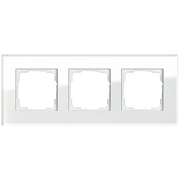 Ramka potrójna ESPRIT Szkło białe