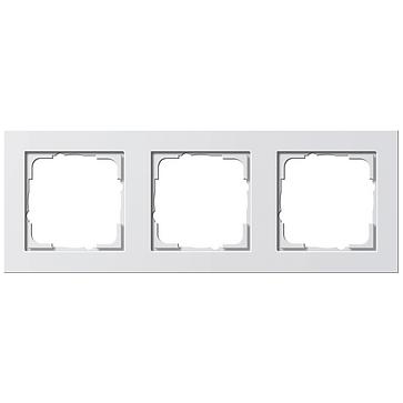 Ramka potrójna E2 biały matowy