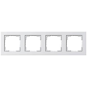 Ramka poczwórna E2 biały matowy