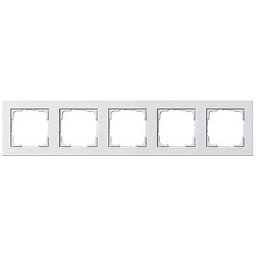 Ramka pięciokrotna E2 biały matowy