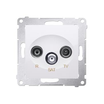 Gniazdo końcowe R-TV-SAT SIMON 54 PREMIUM biały