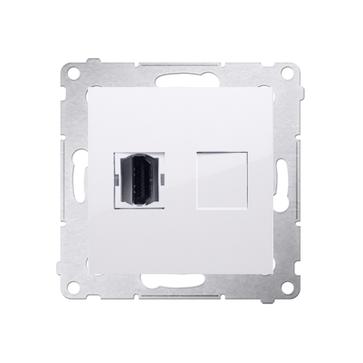 Gniazdo HDMI SIMON 54 PREMIUM biały