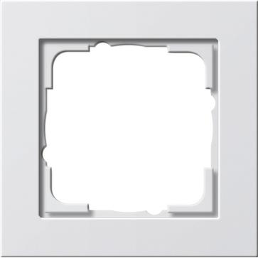 Ramka pojedyncza E2 biały matowy