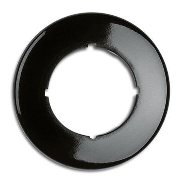 Ramka pojedyncza okrągła THPG bakelit czarny