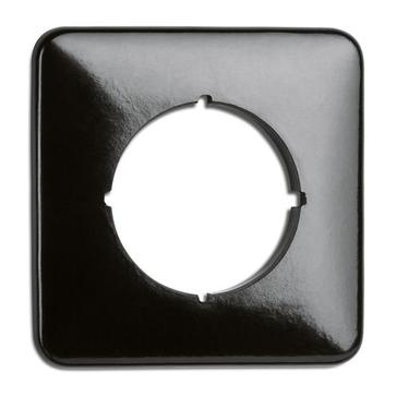 Ramka pojedyncza kwadratowa THPG bakelit czarny