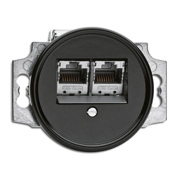 Gniazdo RJ45 6e THPG bakelit czarny