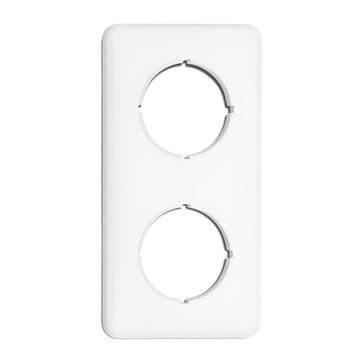 Ramka podwójna kwadratowa THPG duroplast biały