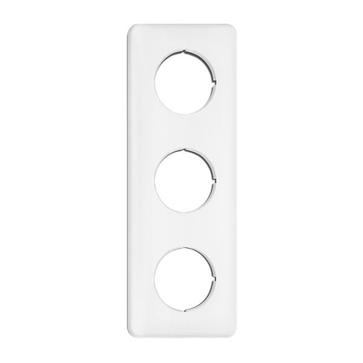 Ramka potrójna kwadratowa THPG duroplast biały