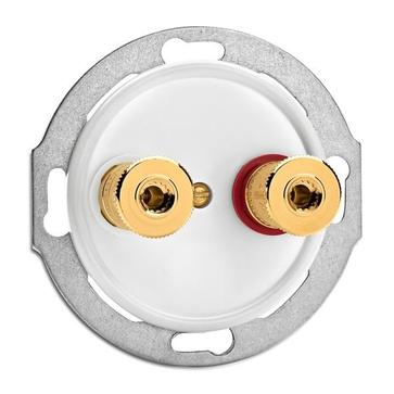 Gniazdo głośnikowe WBT THPG duroplast biały