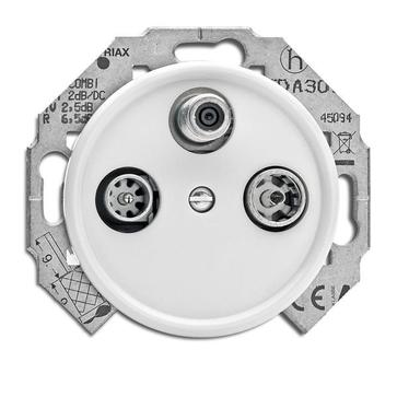 Gniazdo antenowe RTV-SAT THPG duroplast biały