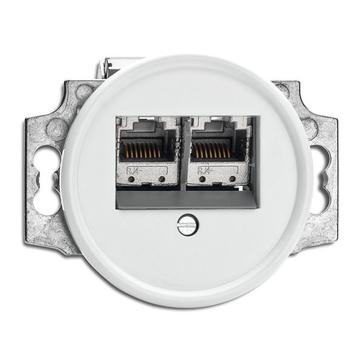 Gniazdo RJ45 6e THPG duroplast biały