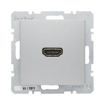 Gniazdo HDMI Berker B.1/B.3/B.7 aluminium mat