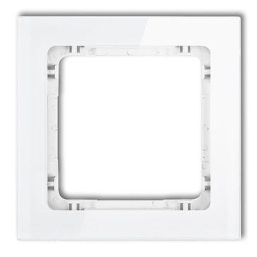 Ramka pojedyncza efekt szkła Karlik DECO biały połysk
